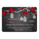 Chalkboard, Mason Jar and Roses Bridal Shower 5x7 Paper Invitation Card