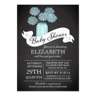 Chalkboard Mason Jar Baby Shower Invitation