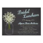 """Chalkboard Mason Jar Baby's Breath Bridal Luncheon 4.5"""" X 6.25"""" Invitation Card"""