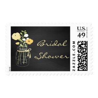 Chalkboard Mason Jar Bridal Shower Stamps