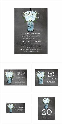 Chalkboard Mason Jar & Hydrangea Flowers