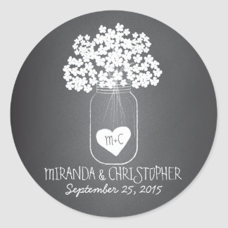 Chalkboard Mason Jar Personalized Favor Stickers