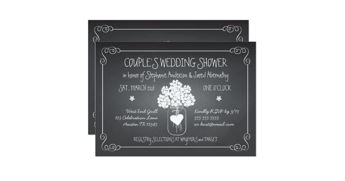 Couples Shower Invitations Announcements – Wedding Couples Shower Invitations