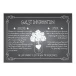 "Chalkboard Mason Jar Rustic Guest Information Card 4.5"" X 6.25"" Invitation Card"