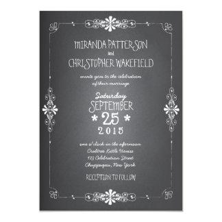 "Chalkboard Mason Jar Wedding Invitation 5"" X 7"" Invitation Card"