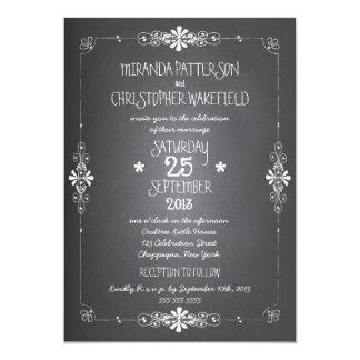 Chalkboard Mason Jar Wedding Invitation with RSVP 13 Cm X 18 Cm Invitation Card