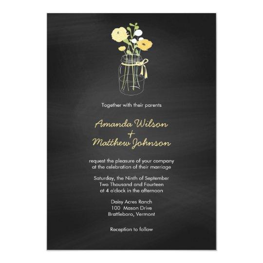 Wedding Invitations Mason Jar: Chalkboard Mason Jar Wedding Invitations
