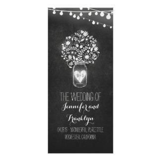 Chalkboard Mason Jar Wedding Programs