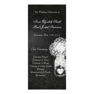 Chalkboard mason jar wedding programs II Custom Rack Cards