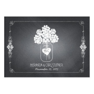 Chalkboard Mason Jar Wedding Seating Place Card Large Business Cards (Pack Of 100)