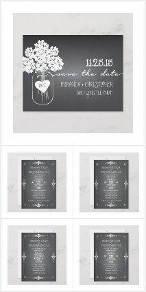 Chalkboard Mason Jar Wedding Set