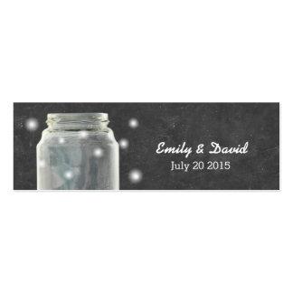Chalkboard Mason Jar Wedding Website Insert Card Business Card