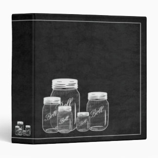 Chalkboard Mason Jars- Recipe Binder