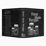 Chalkboard Mason Jars- Recipe Binder