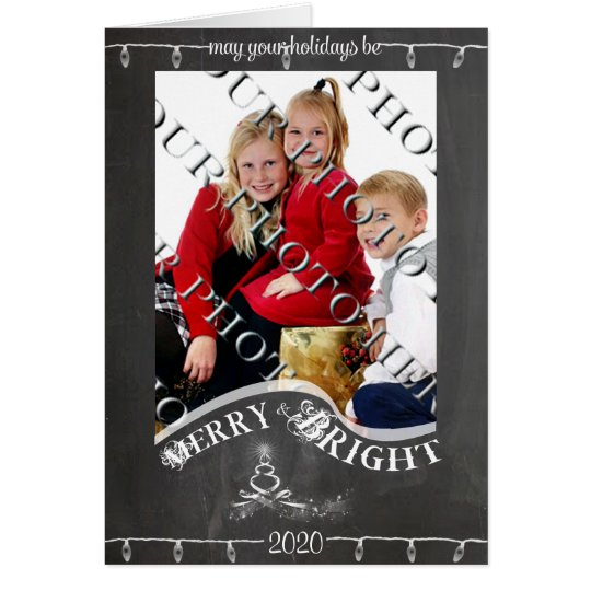Chalkboard May Your Holiday Photo Christmas Card