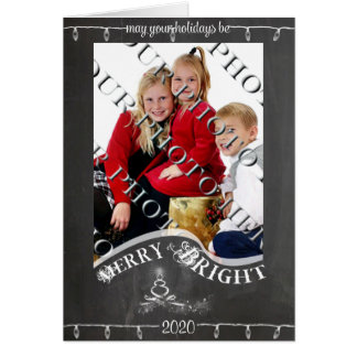 Chalkboard May Your Holiday Photo Christmas Greeting Card
