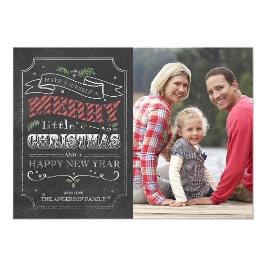 Chalkboard Merry Christmas - photo card