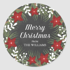 Chalkboard Merry Christmas Sticker at Zazzle