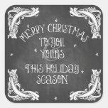 Chalkboard Merry Christmas Sticker