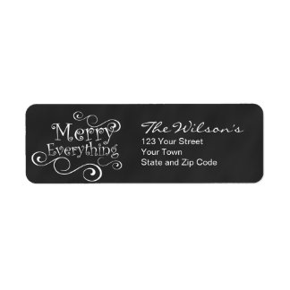 Chalkboard Merry Everything Labels
