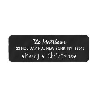 CHALKBOARD MERRY HOLIDAY GREETING RETURN ADDRESS LABEL