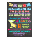"Chalkboard Mexican Fiesta Engagement Party 5"" X 7"" Invitation Card"