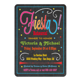 Chalkboard Mexican Fiesta Party Invitation