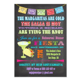 Chalkboard Mexican Fiesta Rehearsal Dinner Card