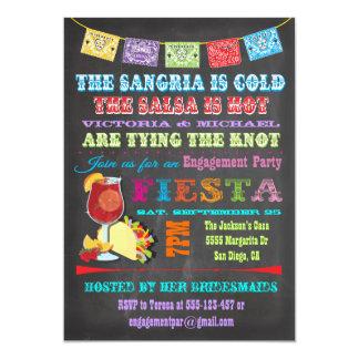 Chalkboard Mexican Fiesta Sangria Rehearsal Dinner Card