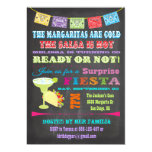 Chalkboard Mexican Fiesta Surprise Birthday Party Personalized Invitations