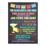 Chalkboard Mexican Fiesta with photo back 5x7 Paper Invitation Card