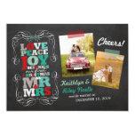 Chalkboard Mistletoe Vintage First Christmas Photo 5x7 Paper Invitation Card
