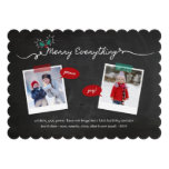 Chalkboard Mistletoes Christmas Holiday Greetings Cards