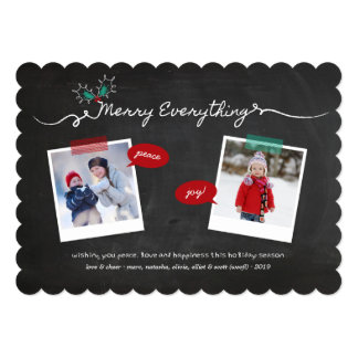 Chalkboard Mistletoes Christmas Holiday Greetings Cards
