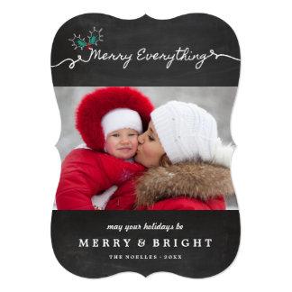 Chalkboard Mistletoes Christmas Holiday Photo Card