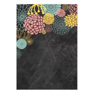 Chalkboard Mod Floral Business Card