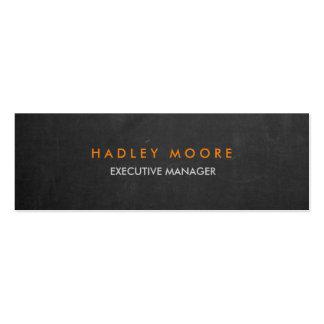 Chalkboard modern grey professional trendy plain mini business card