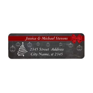 Christmas Themed Chalkboard  modern trendy holiday Christmas Label