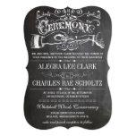 Chalkboard Modern Vintage Typography Invite