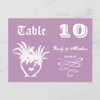 Chalkboard Modern Vintage Typography Table Number Post Cards