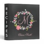 Chalkboard Monogram Bridal shower Recipe Folder
