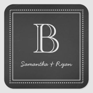 Chalkboard Monogram Envelope Seal