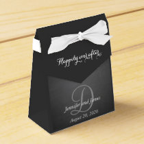 Chalkboard Monogram Happily Ever After 2 Favor Box