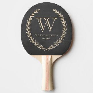 Chalkboard Monogram Ping-Pong Paddle