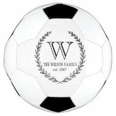 Chalkboard Monogram Soccer Ball at Zazzle