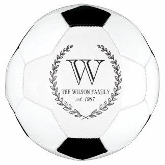Chalkboard Monogram Soccer Ball