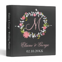 Chalkboard Monogram Wedding Planner Folder