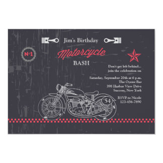 Chalkboard Motorcycle Invitation