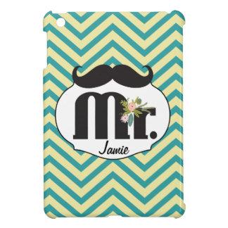 Chalkboard Mr Yellow and Green Wedding iPad Mini Case