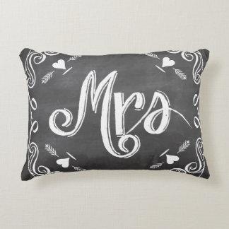 Chalkboard Mrs. Sweetheart Wedding Decorative Pillow